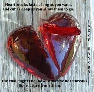 Leer van liefdesverdriet quote (engels)