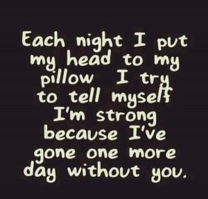 Liefdesverdriet is moeilijk iedere dag quote