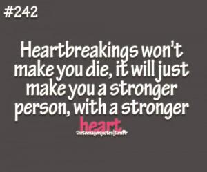 Sterker worden na gebroken hart quote (engels)